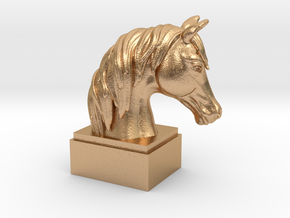 Horse Bust  in Natural Bronze
