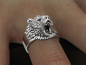 Bear Ring No.2 _ 11 3/4 US in Antique Silver