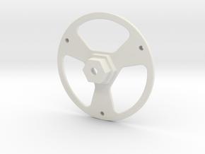 DJI Robomaster 12mm Rad Adapter Montage Aufnahme in White Natural Versatile Plastic
