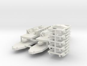 CNSM Electroliner Under Frames & Trucks in White Natural Versatile Plastic
