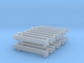 Guard Rail (x16) 1/160 in Smooth Fine Detail Plastic
