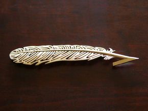 Raven Feather in Natural Brass
