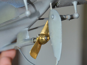 Propeller d40 h30 2blatt in Raw Brass