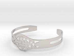 Bracelet - Ornament in Rhodium Plated Brass