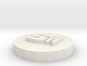 SW new logo 3D in White Natural Versatile Plastic: Extra Small