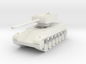 44M TAS (Long turret) 1/76 in White Natural Versatile Plastic