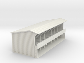 Storage Shed - N Scale in White Natural Versatile Plastic