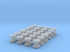 US Modern Wheels set (x48) 1/220 in Smooth Fine Detail Plastic