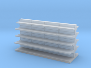 Grocery Shelf  01. 1:43 Scale in Smooth Fine Detail Plastic