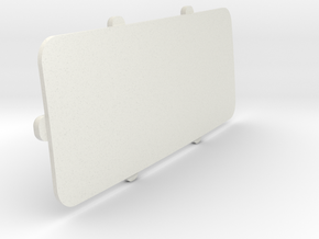 Rear-window-closing-plate in White Natural Versatile Plastic