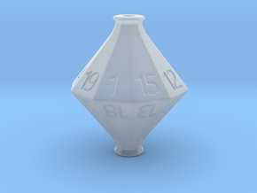 D20 Hollow Potion Dice in Smooth Fine Detail Plastic