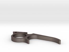bottle opener ring in Polished Bronzed Silver Steel