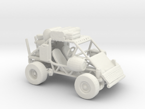 RW. Dune buggy (The Iron Cross) 1:160 scale. in White Natural Versatile Plastic