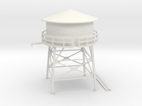 N Scale Water Tank 1:160 in White Natural Versatile Plastic