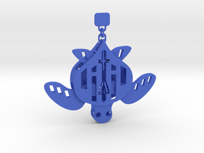 Sea Turtle That Moves / Marionette Sea Creature /  in Blue Processed Versatile Plastic