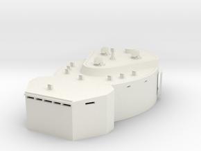 1/72 DKM Scharnhorst Fore Deck 3 Fire Control Post in White Natural Versatile Plastic