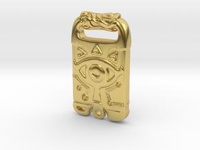 Breath Of The Wild - Sheikah Slate in Polished Brass