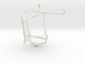 Controller mount for PS4 & Samsung Galaxy A22 - To in White Natural Versatile Plastic