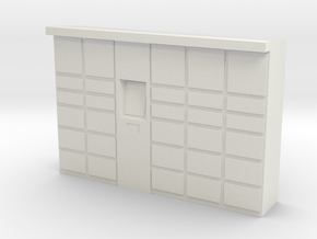 Parcel Locker 1/72 in White Natural Versatile Plastic
