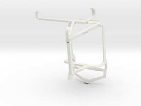 Controller mount for PS4 & Samsung Galaxy A22 5G - in White Natural Versatile Plastic