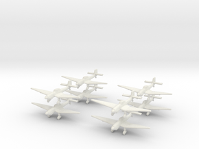 Ju87d-350-x8 in White Natural Versatile Plastic