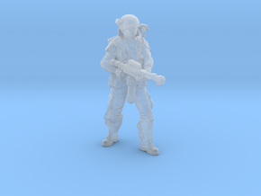 Female Colonial Marine Flamethrower 34mm in Smooth Fine Detail Plastic