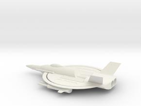 Manta1 in White Natural Versatile Plastic