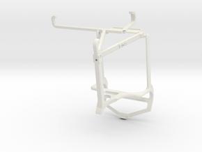 Controller mount for PS4 & vivo iQOO Z3 - Top in White Natural Versatile Plastic