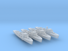 4pk German M1943 Minesweeper 1:1250 WW2 in Smooth Fine Detail Plastic