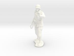 Army Soldier - LT Hanley - COMBAT in White Processed Versatile Plastic