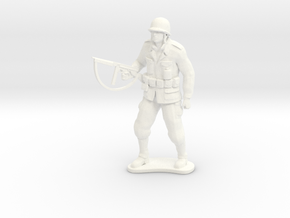 Army Soldier - SGT Saunders - COMBAT in White Processed Versatile Plastic