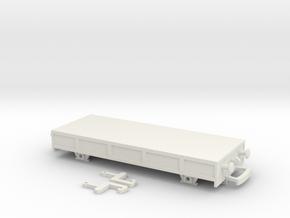 HO/OO Basic Breakdown train flatbed Bachmann in White Natural Versatile Plastic