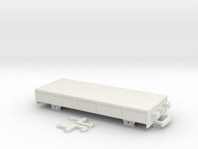 HO/OO Breakdown train studded flatbed Bachmann v3 in White Natural Versatile Plastic