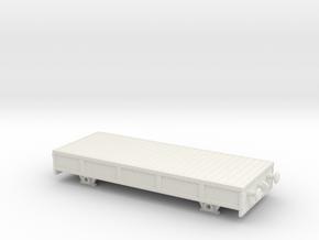 HO/OO Breakdown train studded flatbed Chain v3 in White Natural Versatile Plastic
