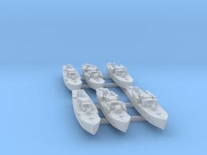 6pk Fairmile D MTB/MGBs WW2 1:1250 in Smooth Fine Detail Plastic