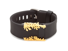 Steel Matisse cuff for Fitbit Charge & HR in Polished Gold Steel