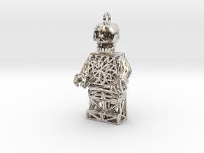 Los Muertos Lego Man Key Chain in Platinum