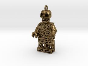 Los Muertos Lego Man Key Chain in Natural Bronze