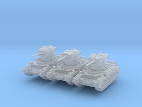 Matilda II Aus (x3) 1/220 in Smooth Fine Detail Plastic