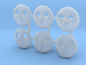 Green Caterpillar HO Faces in Smooth Fine Detail Plastic