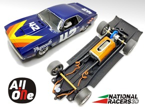 Chassis - SCX Plymouth Barracuda (AiO-Inline) in Black PA12