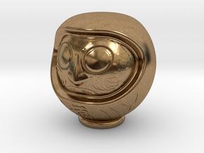 Daruma Doll 001 in Natural Brass