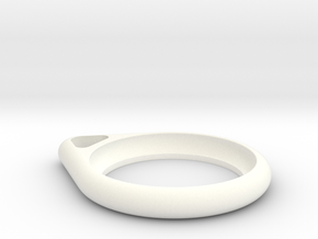 Airtag Design Keyring in White Processed Versatile Plastic
