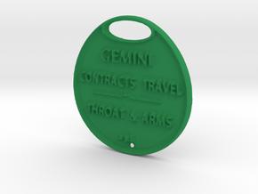 GEMINI-A3D-COINS- in Green Processed Versatile Plastic