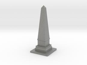 Obelisk Monument 1/100 in Gray PA12