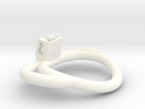Cherry Keeper Ring G2 - 52x48mm Wide Oval ~50mm LH in White Processed Versatile Plastic