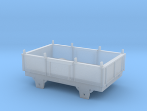 Broad Gauge Iron Box Truck (N Scale) in Smooth Fine Detail Plastic