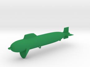 Submarine Fishing Plug in Green Processed Versatile Plastic