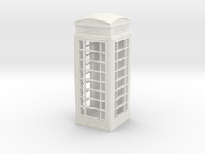 UK Phone Booth 1/48 in White Natural Versatile Plastic