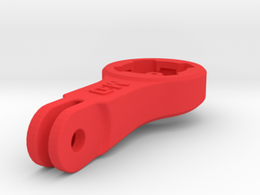 Lezyne GPS BMC/Blendr Mount - Short in Red Processed Versatile Plastic